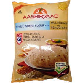 Aashirvaad Whole Wheat Flour With Multi Grains & Fenugreek , 5KG