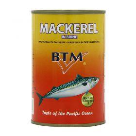 BTM  Mackerel tin fish  in Brine 425g