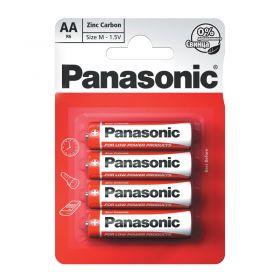 Panasonic Red Zinc Battery Aa 4 Pieces