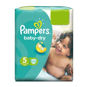 Pampers Baby-Dry Size 5, Junior Pack, 23 Nappies