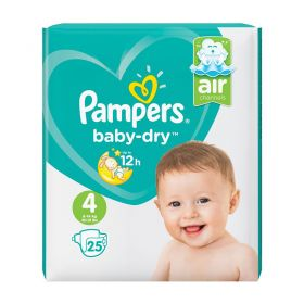 Pampers Baby-Dry Size 4, 25 Nappies