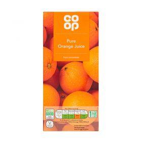 Co Op Pure Orange Juice 1 Litre