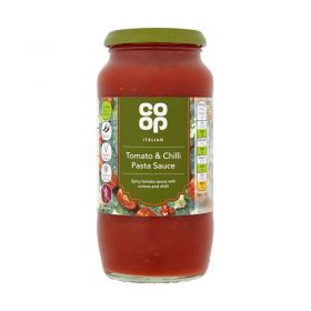 Co Op Tomato & Chilli Pasta Sauce 500g