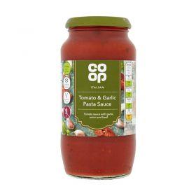 Co Op Tomato & Garlic Pasta Sauce 500g