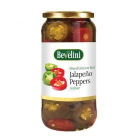 Bevelini Sliced Green Jalapeno Peppers