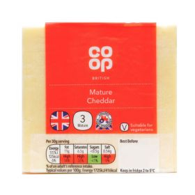 Co Op Grated Mature Cheddar Cheese 200g
