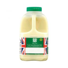 Co Op Fresh Semi Skimmed Milk 1pint 568ml