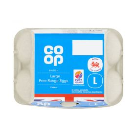 Co Op Large Free Range Eggs British Farms 12