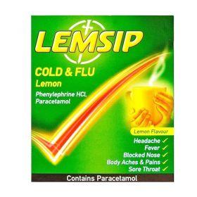 Lemsip Cold & Flu Lemon 5 Sachets