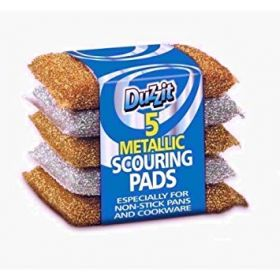 Duzzit Metallic Scouring Pads, Pack of 5