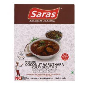 Saras Sterilised Coconut Varutha Curry Gravy Mix 200g
