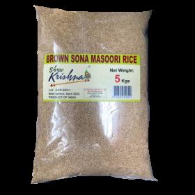 Shree Kishna Brown Sona Masuri Rice 5Kg