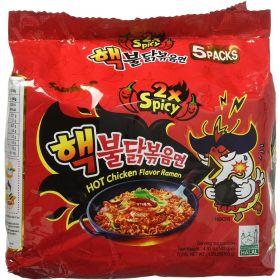 Samyang Hack Buldak Bokeum Ramen 5Pcs Hot Spicy Fire