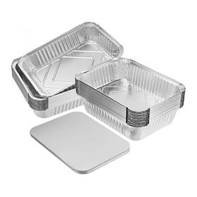 Aluminium Catering Container, Size 9x9x2 with Lids, Pack Size 200 Pieces