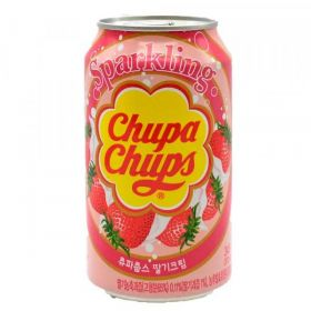 Chupa Chups Sparkling Strawberry & Cream 345ml case