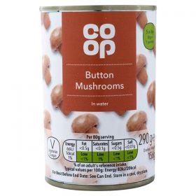 Co Op Whole Mushrooms 285g
