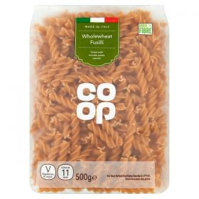 Co Op Whole Wheat Fusilli 500G