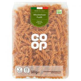 Co Op Whole Wheat Fusilli 500G
