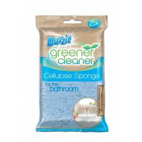 Duzzit Greener Cleaner, Pack of 2 Cellulose Bathroom Sponges