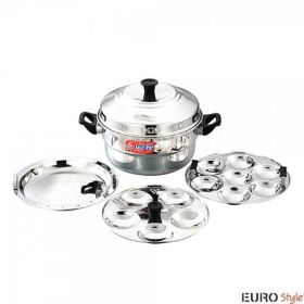 EURO STYLE IDLY POT+STEAMER