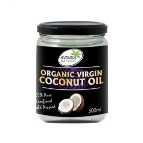 Organic Virgin Coconut Oil 500 ml Avonra Natural