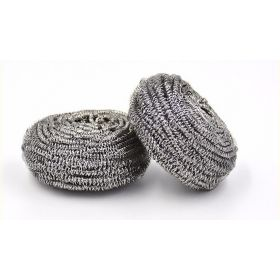 CaterGold Stainless Steel Spiral Scourers, Pack of 4 Scrubs