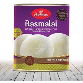 Haldiram's Rasmalai Indian Sweets-1kg- Tin