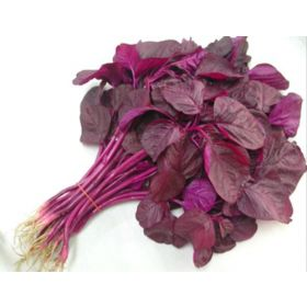 Fresh Red Spinach Leaves