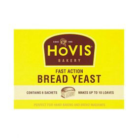 Hovis Backery Yeast,6 Sachets Hovis Fast Action  Bread Yeast 6 x 7g
