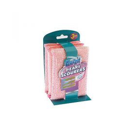 Duzzit Pearl Scouring Pads, Pack of 3