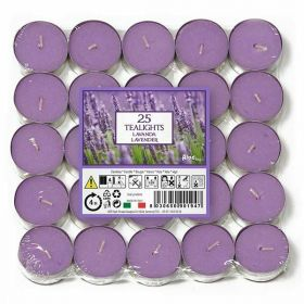 Bloome 12 Tea Light Fragrance Candles, 2.5 Hours Burn Time Each - Wild Lavender