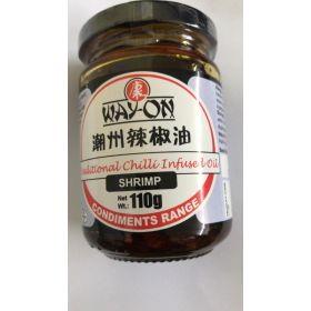 Way-On Traditional Chilli infused Oil - Shrimp 110G
