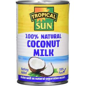 Tropical Sun Coconut Milk - 100% Natural Tin 400ml
