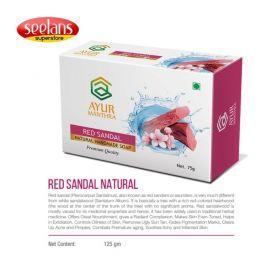Seelans Superstore, Red Sandal Natural Handmade Soap, 75g
