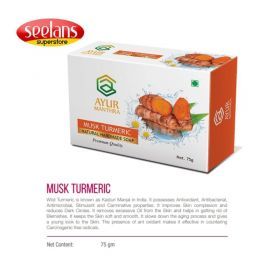 Seelans Superstore, Natural Musk Turmeric Natural Handmade Soap, 75g