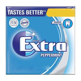 Wrigley's Extra Peppermint Sugarfree Chewing Gum with Sweetener 10 Pieces